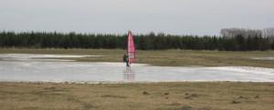 Eissurfen am Kubitzer Bodden