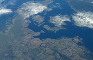 Friedliches Terrain: Die Ostsee mit der Insel Rügen (rechts im Bild). Das Foto stammt von Alexander Gerst, der sich zurzeit in der ISS aufhält.